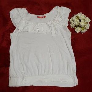 ELLE bright white sleeveless top sz-L